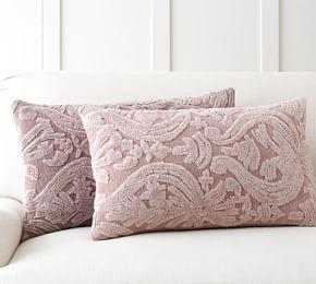 Natalia Silk Jacquard Lumbar Pillow Cover