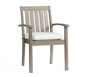 Chatham Stacking Dining Armchair, Gray