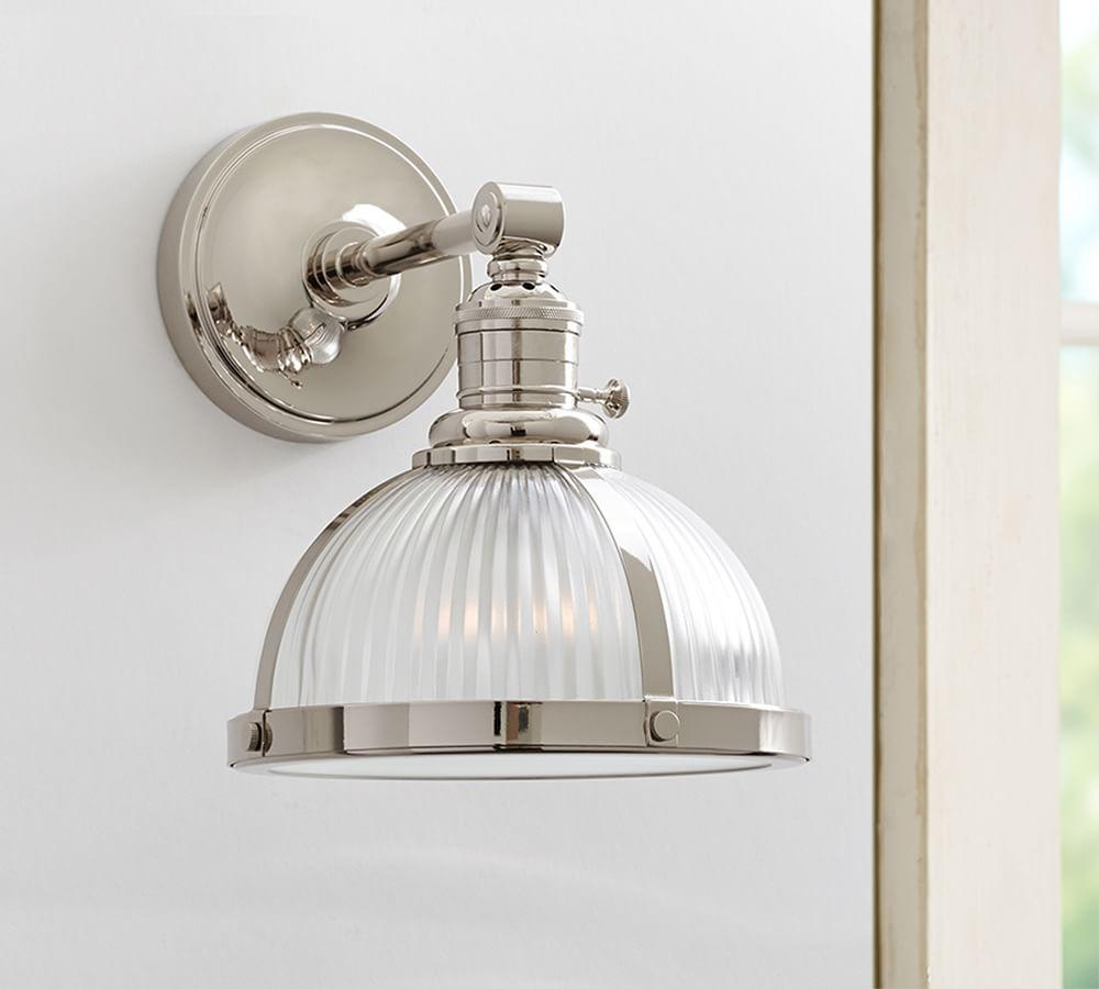 PB Classic Sconce - Ribbed Glass