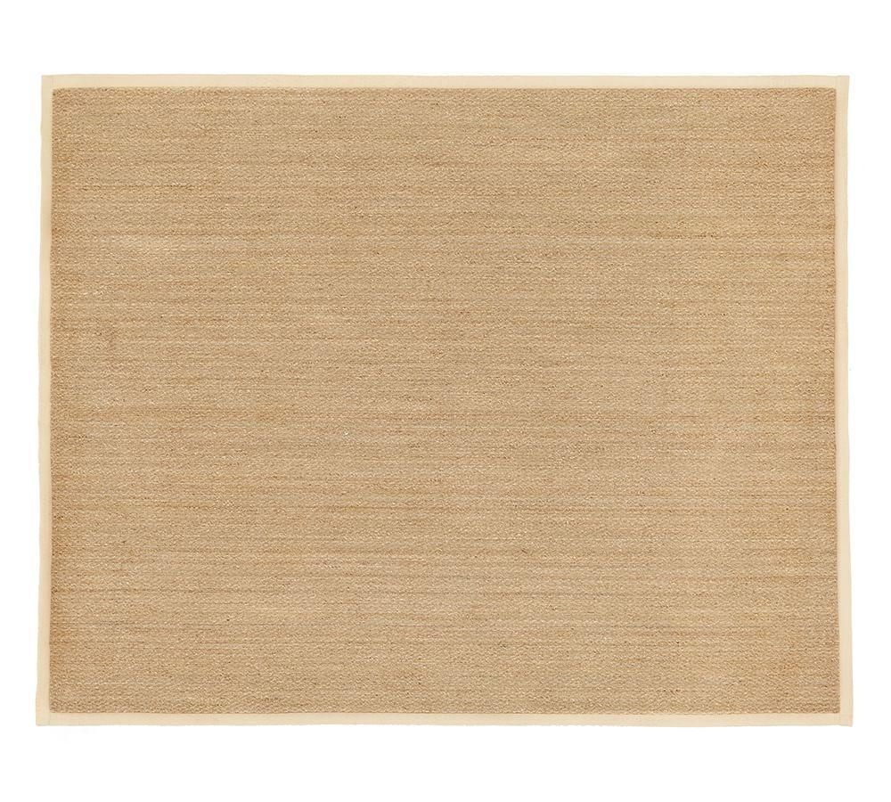 Color-Bound Seagrass Rug - Natural