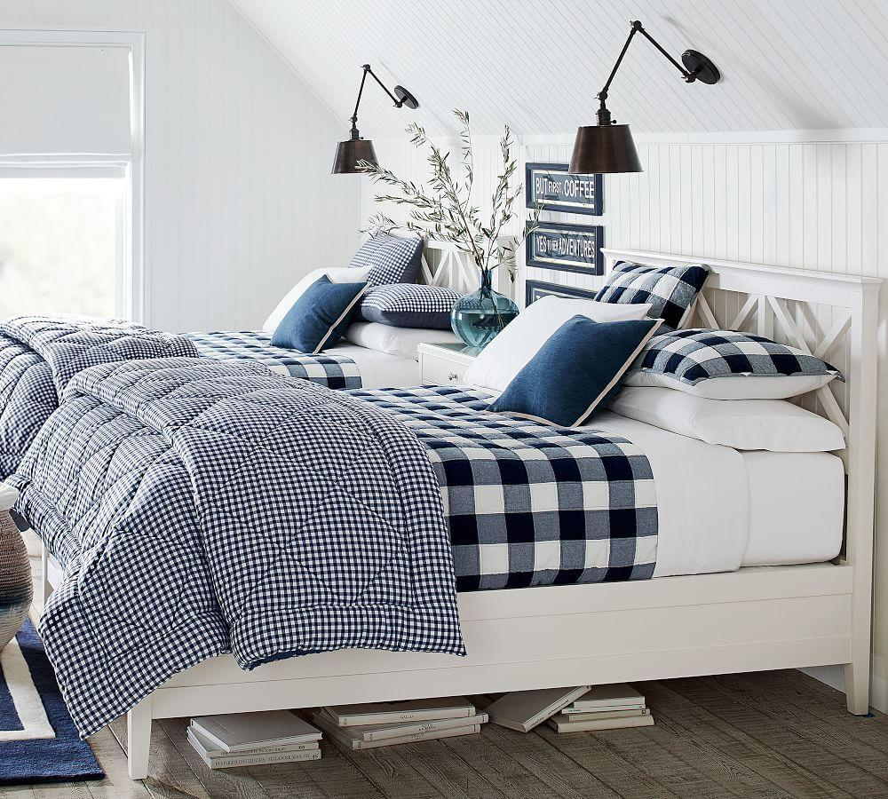 duvet sawyer barn pertaining red cover check to pottery kids plaid buffalo idea
