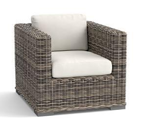 Huntington All-Weather Wicker Square Arm Occasional Chair