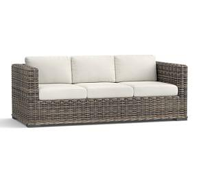 Huntington All-Weather Wicker Square Arm Sofa
