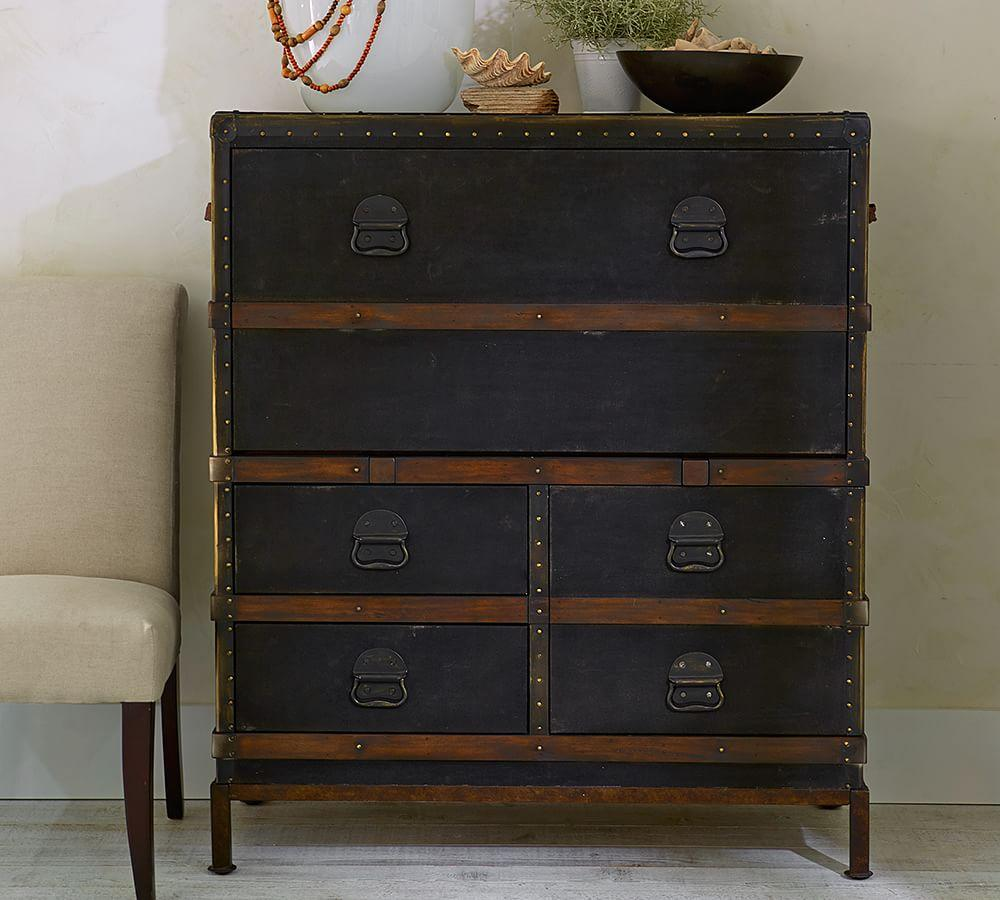 Ludlow Trunk Secretary Desk Pottery Barn Ca