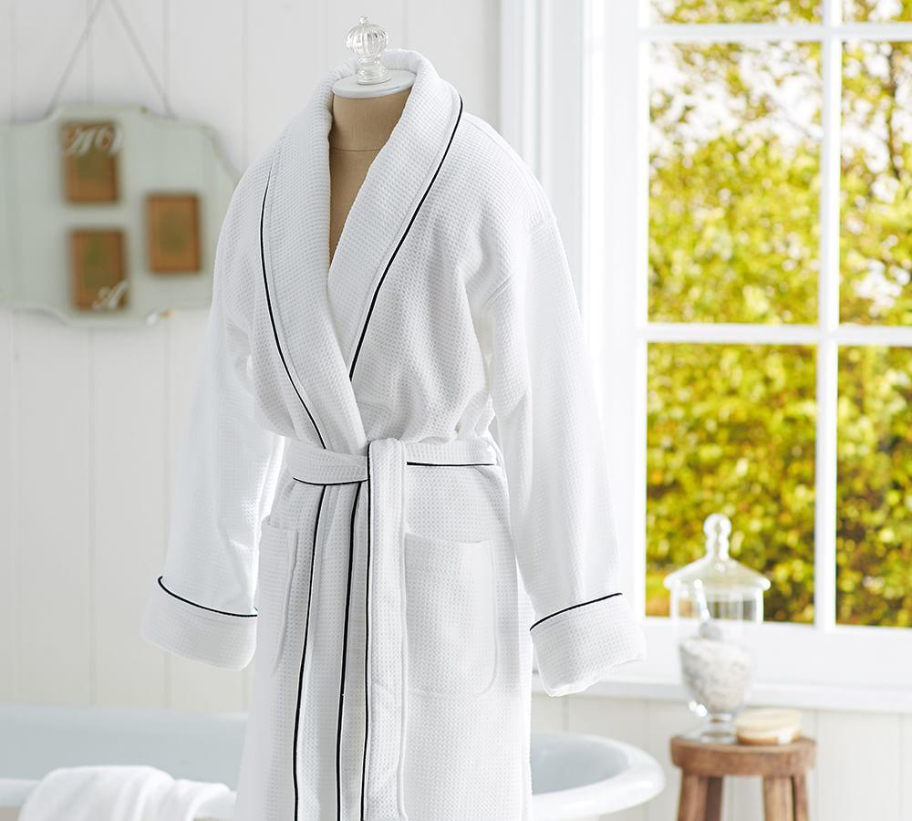 Hotel Piped Trim Robe Pottery Barn Ca