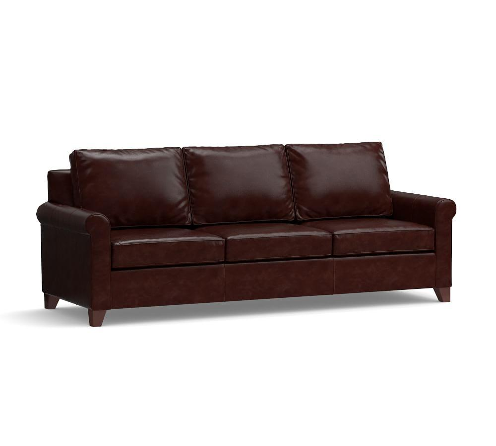 Cameron Roll Arm Leather Sofa