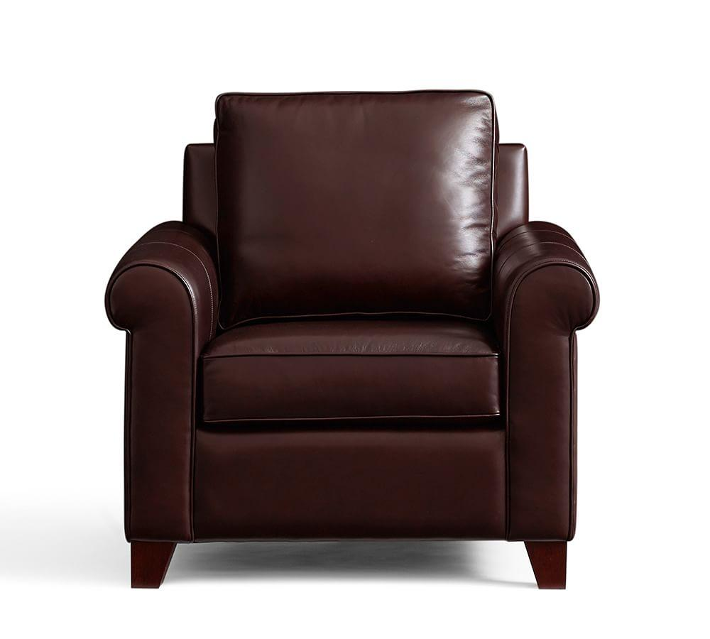 Cameron Roll Arm Leather Armchair