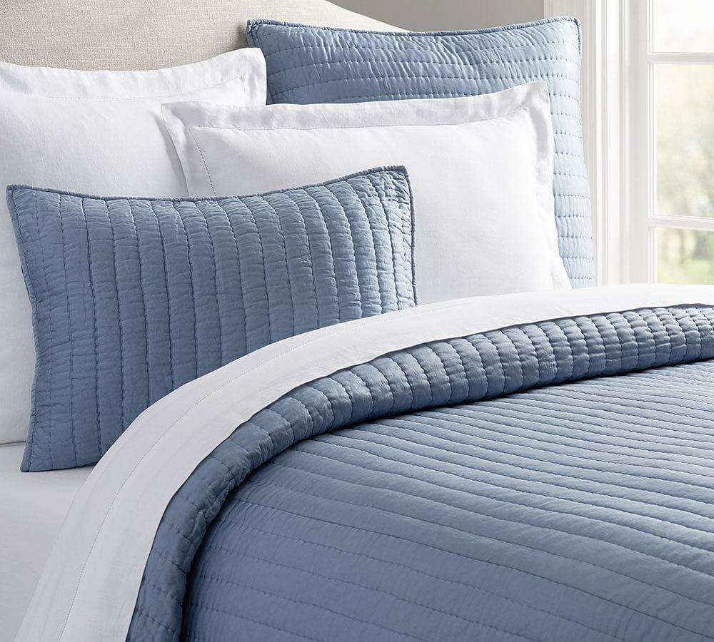 Silk Channel Two-Toned Sham