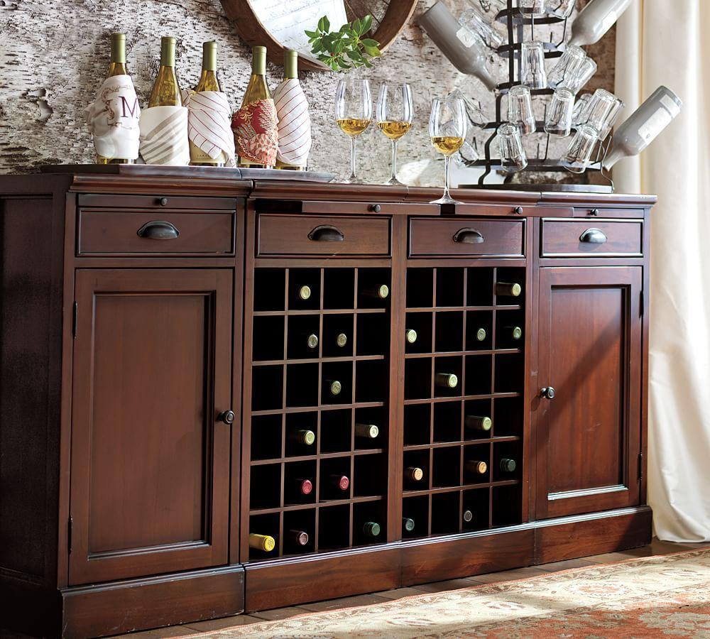 Modular Bar Extra Wide Buffet Pottery Barn Ca