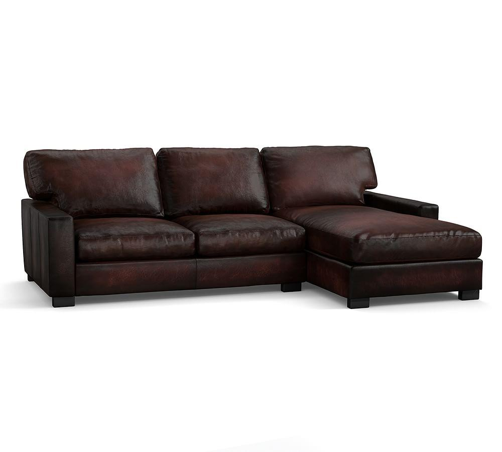 Turner Square Arm Leather Sofa With Chaise Sectional |Pottery Barn on leather stools, leather recliner, leather fabric, leather bench, leather couch, leather footstool, leather slipcovers for couches, leather love seats, leather bedroom, leather reclining sofa, leather sectional sofa, leather journal, leather modern, leather design, leather benches, leather furniture, leather settee, leather living room, leather tv stand, leather chaps,