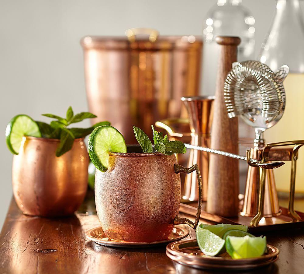 Copper Moscow Mule Mug Set Of 2 Pottery Barn Ca