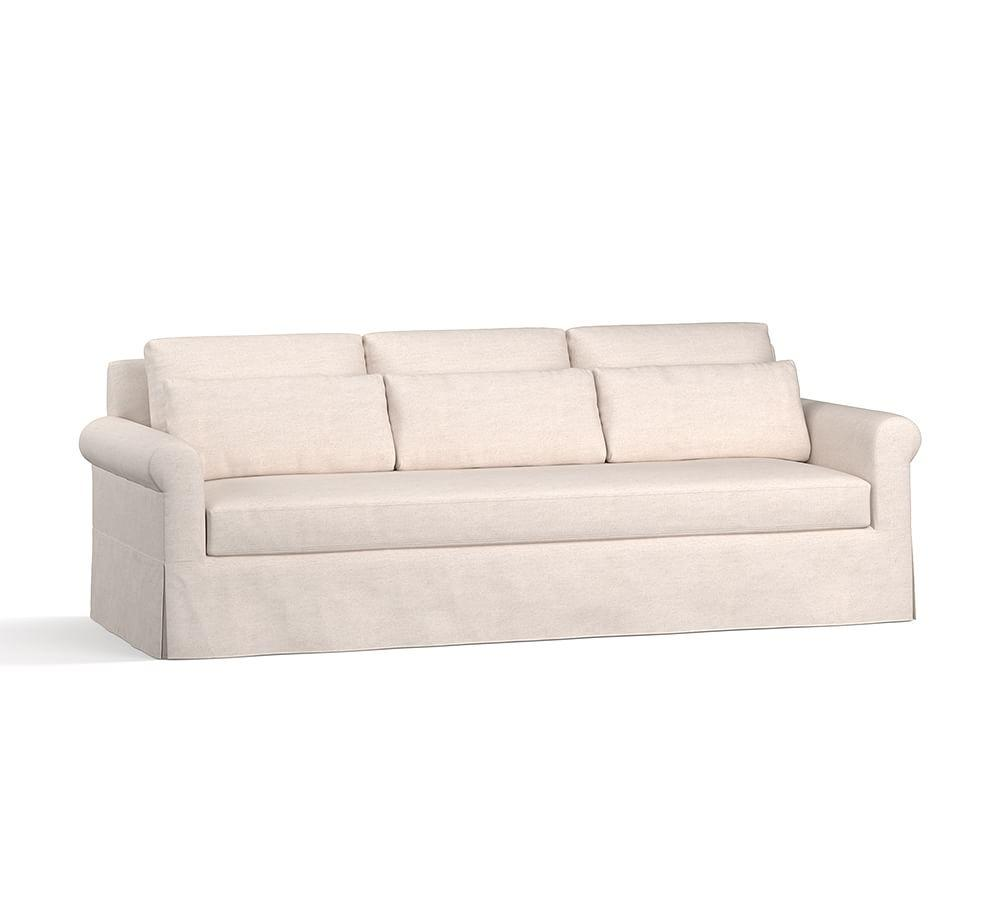 York Roll Arm Deep Seat Slipcovered Sofa