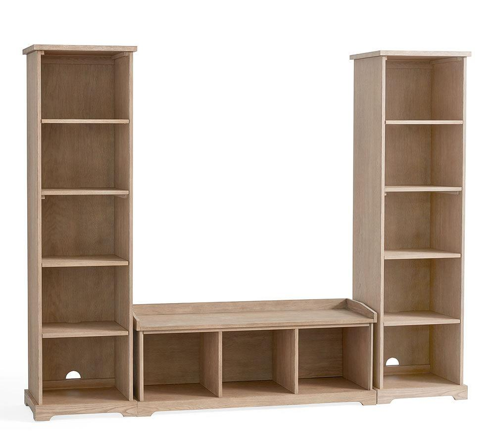 Samantha 3 Piece Bench Amp Bookcase Entryway Set Seadrift
