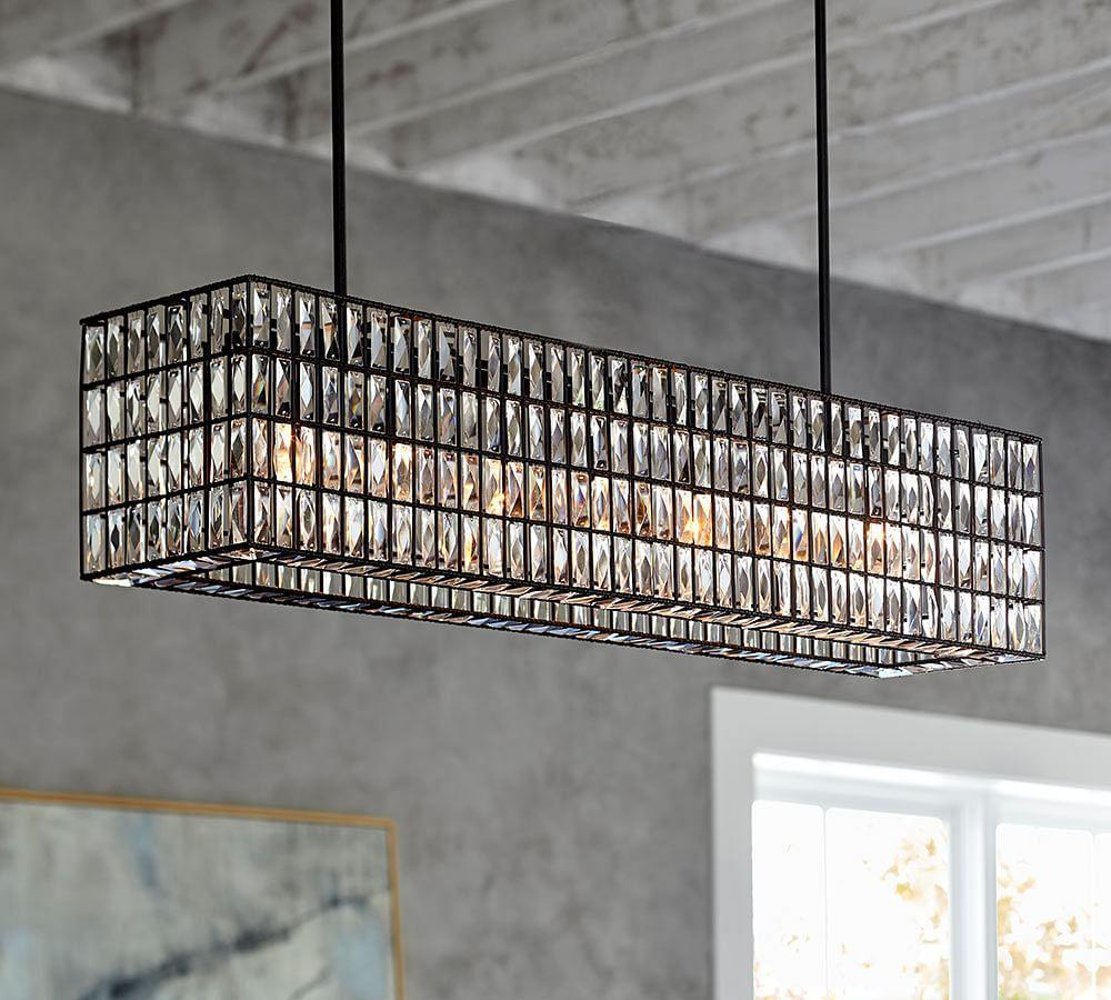 product lighting flush rectangular shell tropical oyster paradise chandelier glow crystal by mount