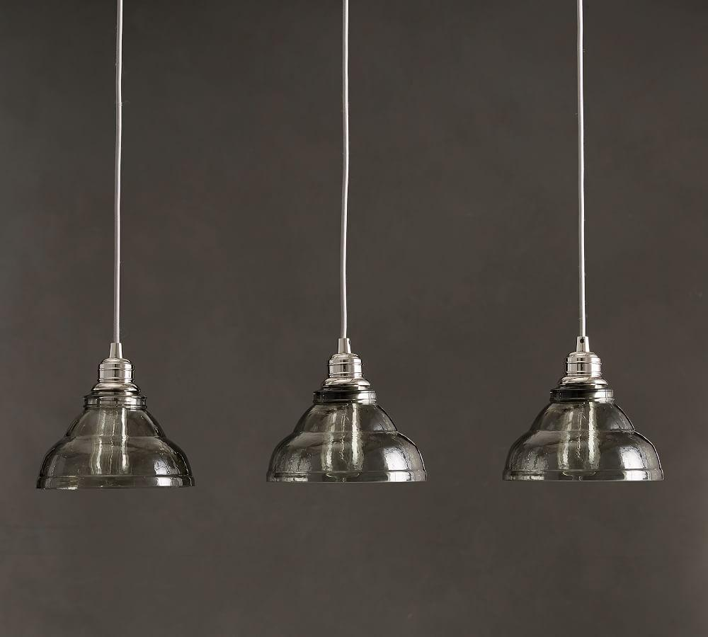 Pottery Barn Lights Hanging Lights: PB Classic Vintage Glass 3-Light Pendant