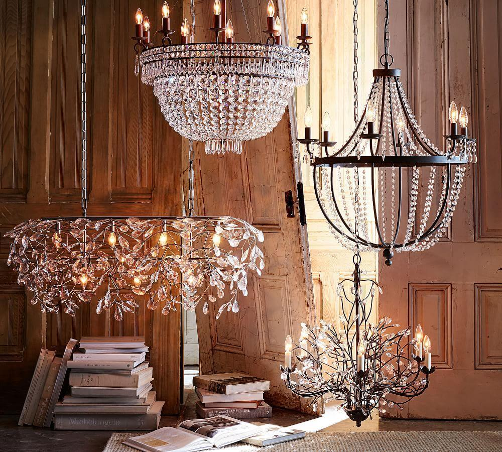 Camilla 6 arm chandelier pottery barn ca camilla 6 arm chandelier mozeypictures Image collections