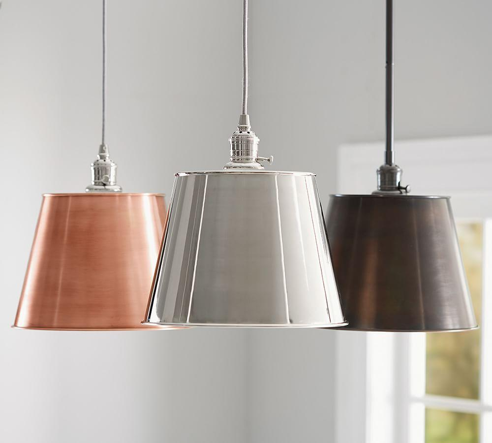 Pb Classic Tapered Metal Pendant Pottery Barn Ca