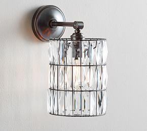PB Classic Sconce – Adeline Crystal