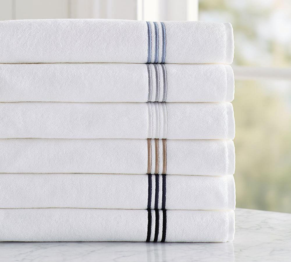 Grand Embroidered Organic Towels