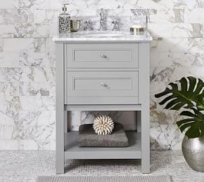 Classic Single Sink Mini Console - Gray