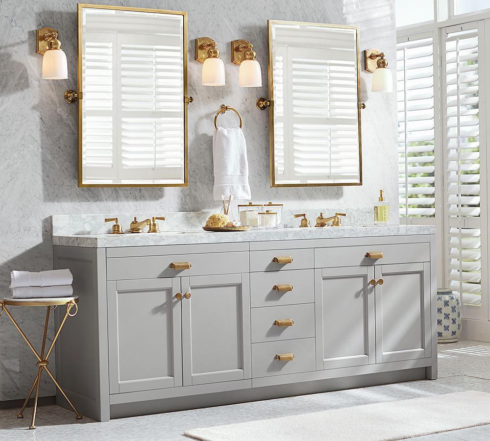 Davis Double Sink Console with Drawers | Pottery Barn CA