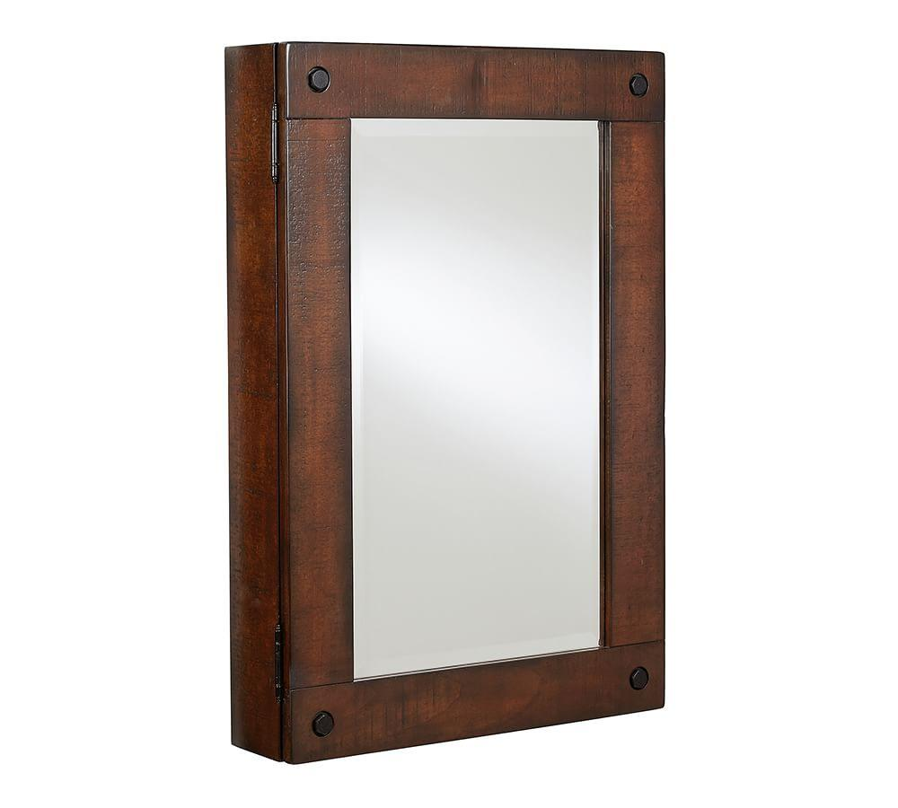 Benchwright Wall-Mount Medicine Cabinet - Rustic Mahogany Finish