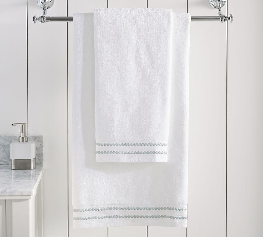 Pearl Embroidered Organic Towels