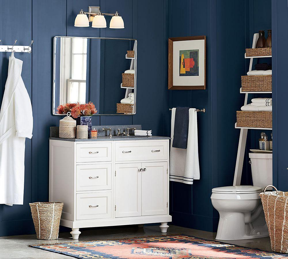 Ainsley Over The Toilet Ladder With Baskets Pottery Barn Ca