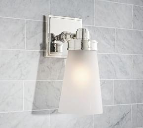 Bathroom lighting pottery barn ca pearson single sconce mozeypictures Images