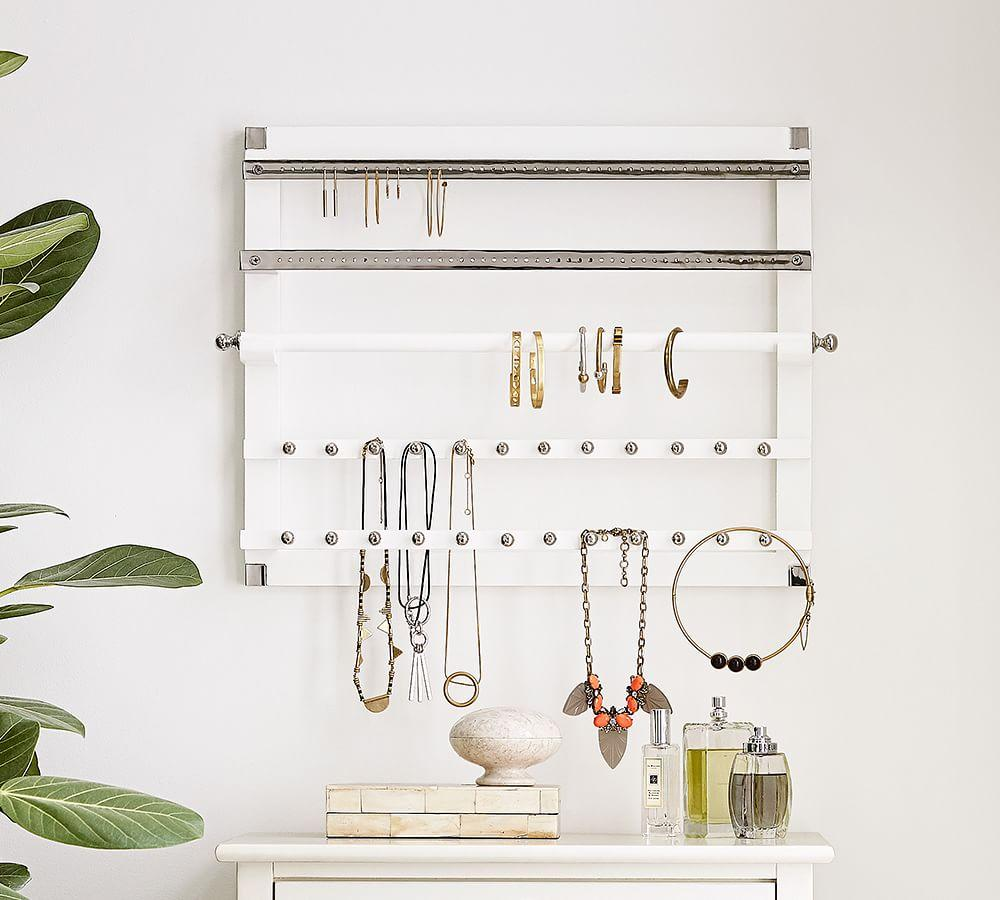 Wall-Mounted Jewelry Hanger