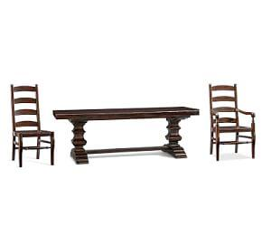 Banks Extending Dining Table + Wynn Chair Set