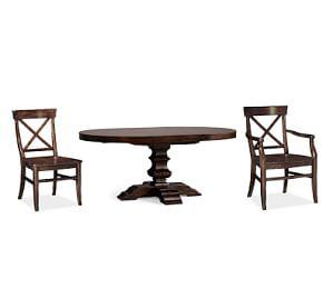 Banks Pedestal Table + Aaron Chair Set