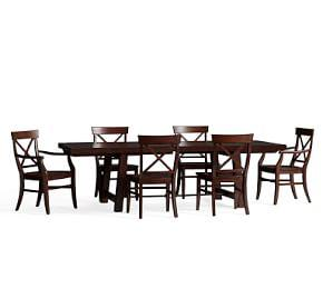 Benchwright Extending Table & Aaron Chair Dining Set