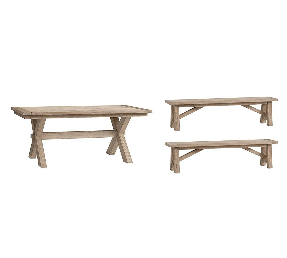Toscana Extending Dining Table Bench 3 Piece Set