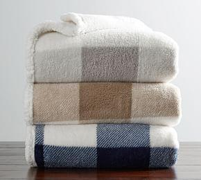Buffalo Check Sherpa Back Throw
