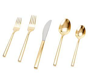 Luna Brushed Gold Flatware