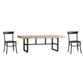 Griffin Reclaimed Fixed Table & Lucas Chair Dining Set