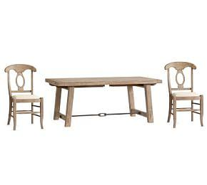 Benchwright Extending Table & Napoleon Chair Dining Set