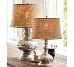Mercury Glass Table Lamp Base