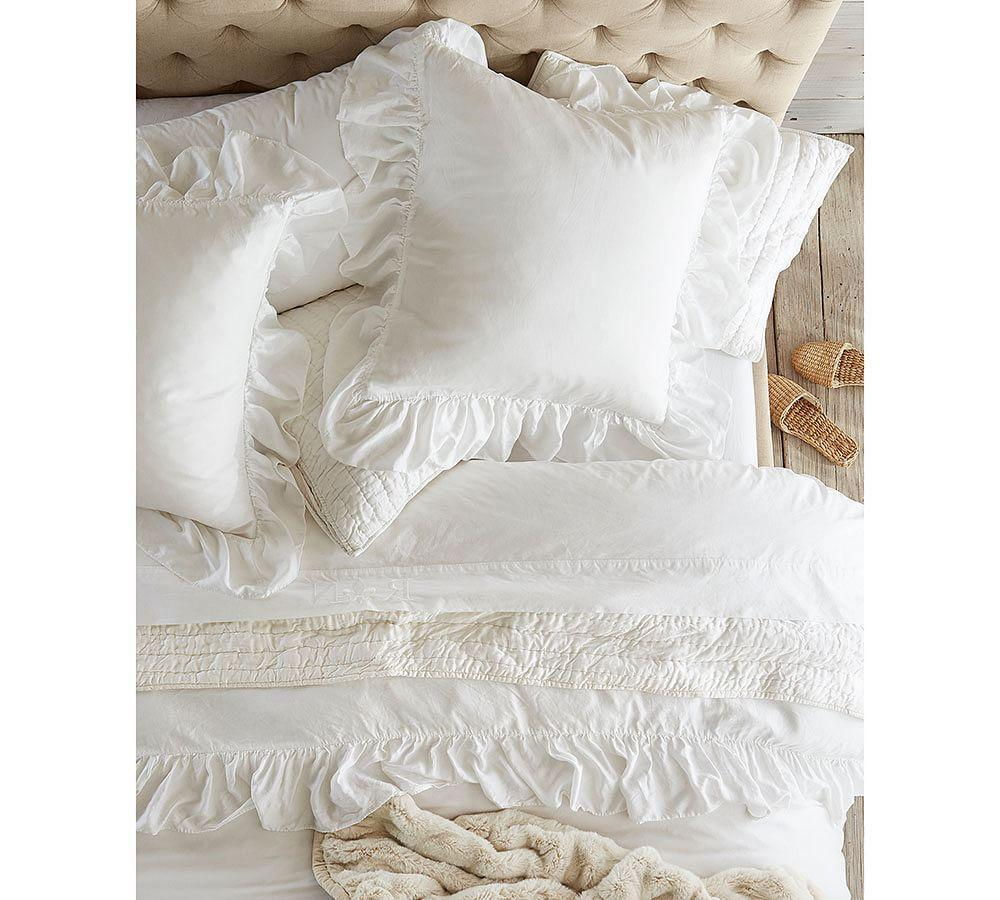 sheet outfitters queen cover white set and pin solid waterfall urban ruffle duvet
