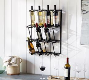 Vintage Blacksmith Wall Wine Rack