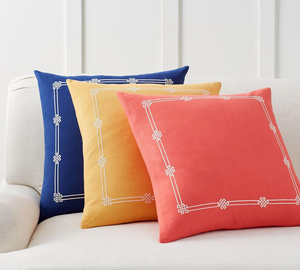 Emilia Embroidered Pillow Cover