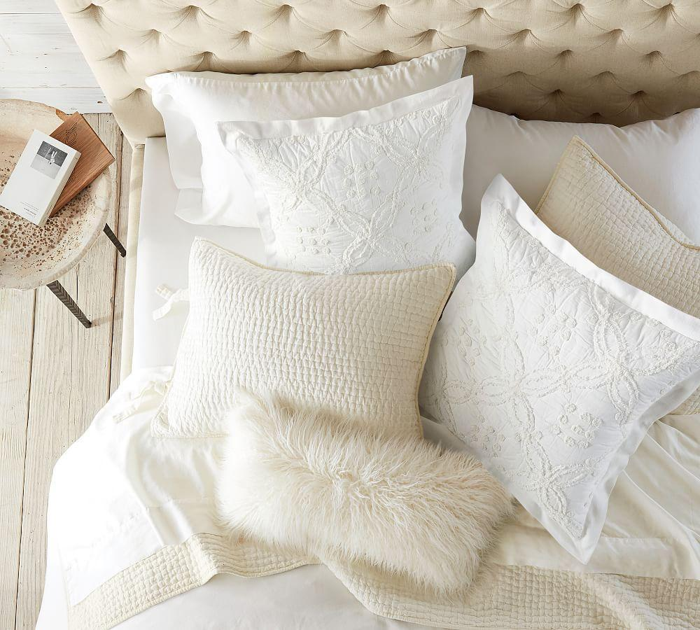 Candlewick Quilt Amp Sham White Pottery Barn Ca