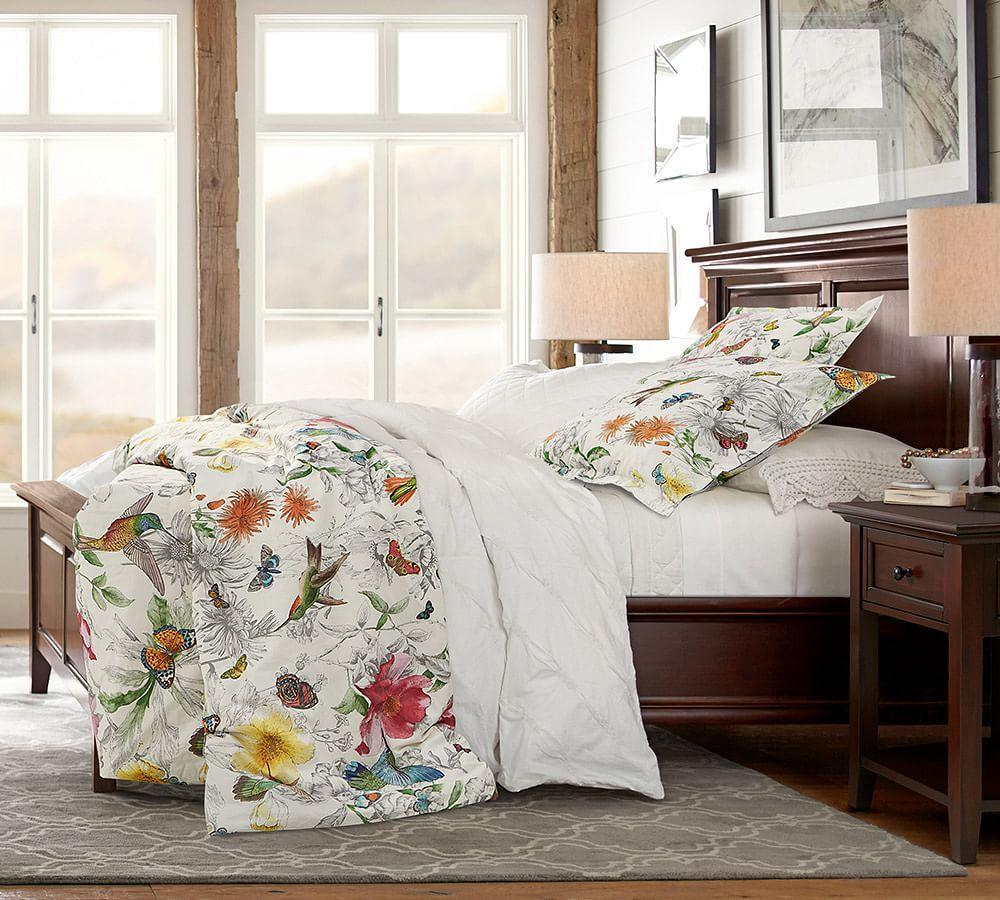 Hummingbird Reversible Percale Duvet Cover Amp Shams