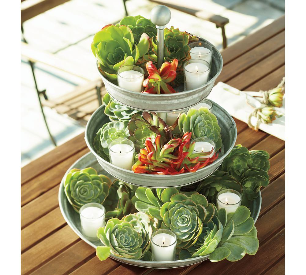 Galvanized Metal Tiered Stand