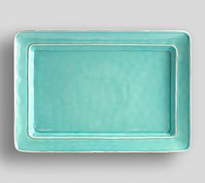 Cambria Rectangular Serving Platter - Turquoise