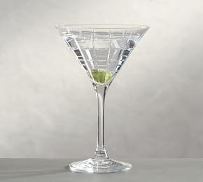 Library Hand-Cut Martini Glass