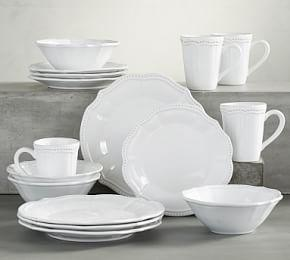 Leila 16-Piece Dinnerware Set - White