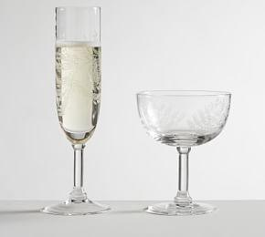 Monique Lhuillier Gabrielle Etched Champagne Glasses