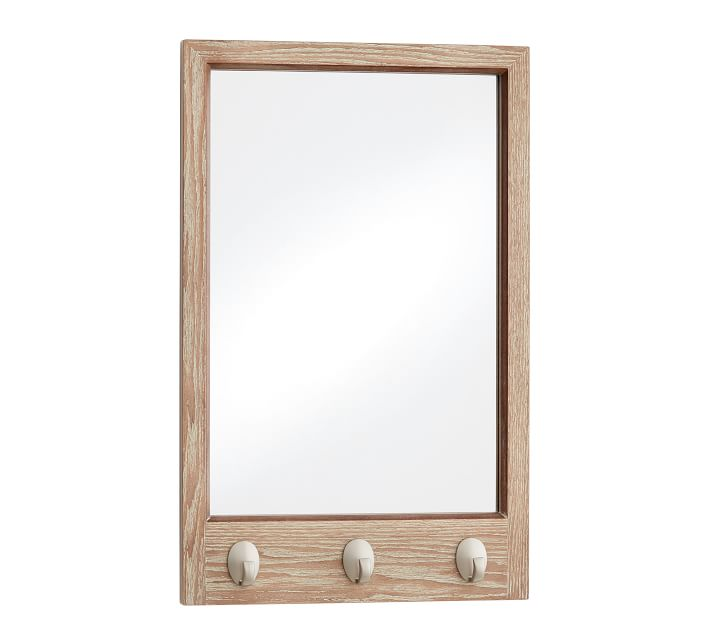 Daily System Framed Mirror with Hooks